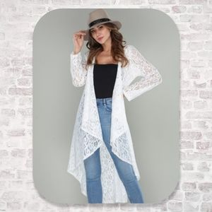 Lace Duster Swimsuit Coverup Plus Size Boho NEW
